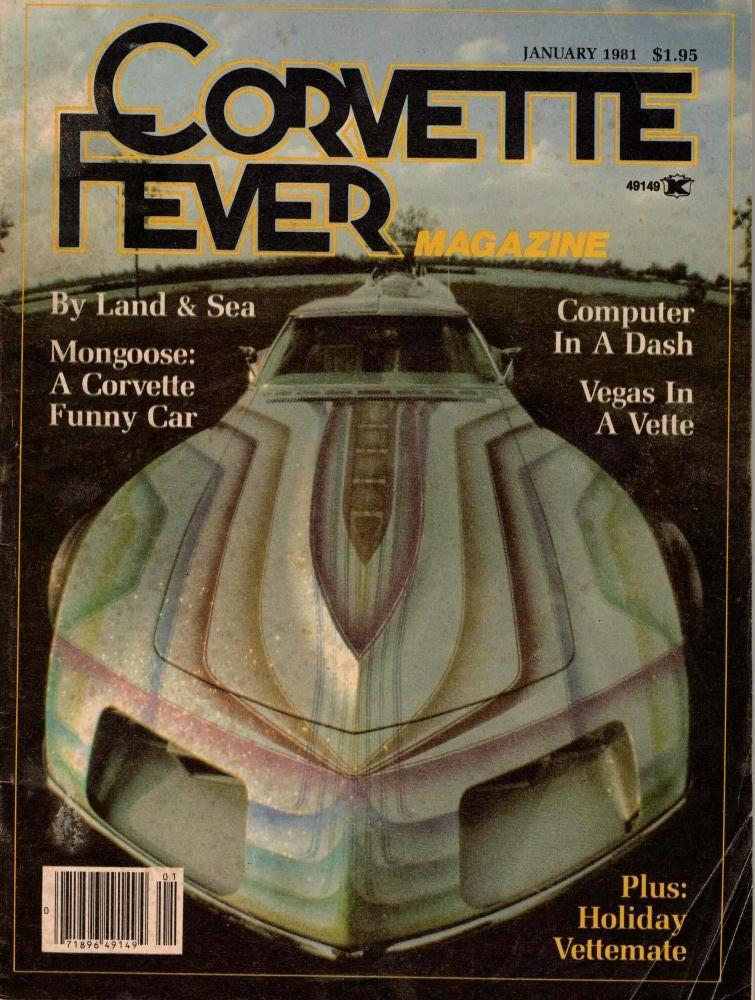 January 1981 Corvette Fever Magazine Cover